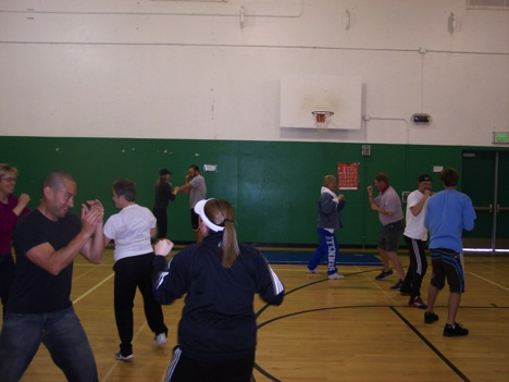 Dr. Chen lectured a 5-hour self-defense instructor training workshop for 28 middle and high school teachers at SJSU.