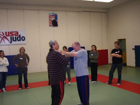 Dr. Chen lectured a 5-hour self-defense instructor training workshop for 18 middle and high school teachers at SJSU.