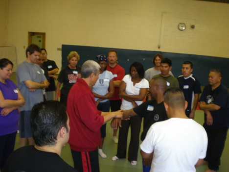Dr. Chen lectured a 8-hour self-defense instructor training workshop for 36 teachers in Antioch School District. It was the first of series of self-defense instructor training workshops sponsored by CAHPERD for California middle and high school teachers.