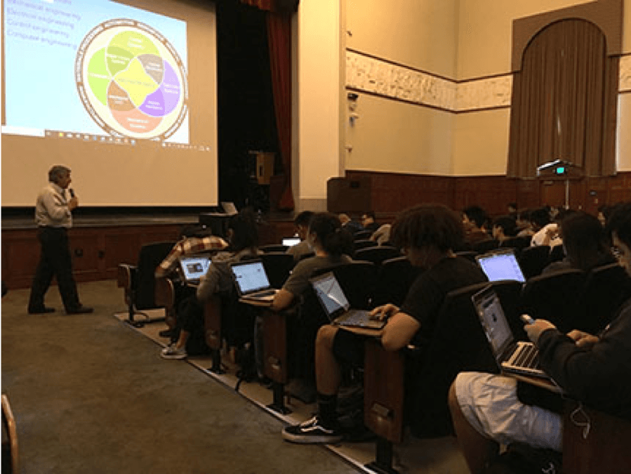 Professor Kourosh Youssefi uses iClicker with over 500 students in his Mechanical Engineering classes.