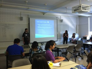 COMM 80 students attend orientation.
