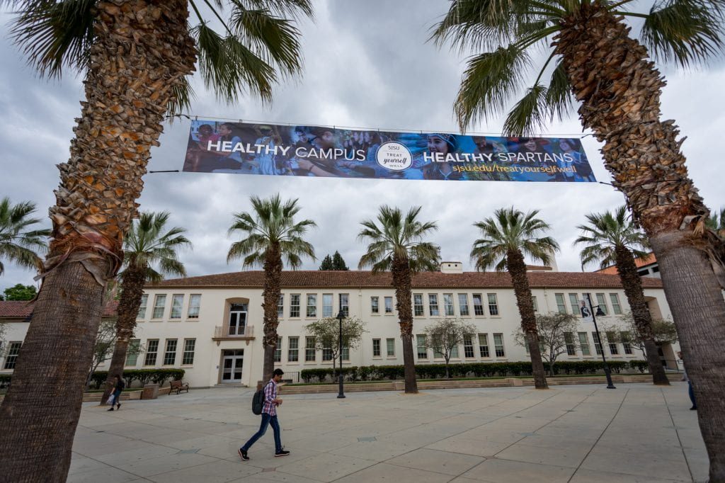 Healthy Campus Healthy Spartans banner