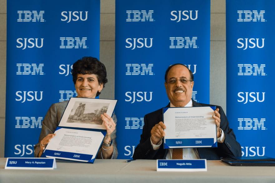 Prez Papazian with IBM VP Naguib Attia.