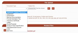 Requisition Upload File Document Type