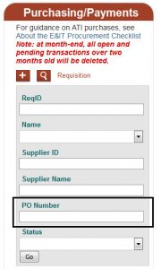 Requisition Search Feature