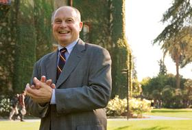 Photo credit: Vicki Thompson - Don W. Kassing, San Jose State University interim president, says as state funding declines, the public universities that will thrive are those with the entrepreneurial spirit to cultivate a much more diverse funding base.