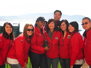2010 SJSU hospitality students at the AT&T Pebble Beach National Pro-Am.