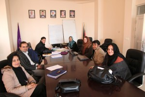 Professor Guerrazzi meets with colleagues at Herat University.