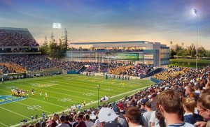 An illustration of the proposed football complex, which will house a Bill Walsh tribute.