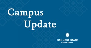Campus Shooting Incident Update with SJSU log in background