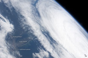 Hurricane Katia off the Northeastern US Coastline Viewed from the space station, Hurricane Katia presented an impressive cloud circulation as its center passed the northeastern coast of the United States on September 9, 2011.