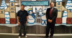 Alumni Association Presents Wintry Campus Tableau