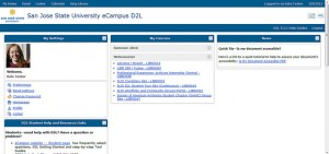 Kate's D2L home page