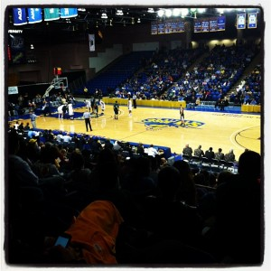 Picture taken by an SJSU student from the crowd of the SJSU basketball game.