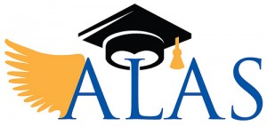 ALAS logo showing wings and graduation cap