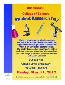 College of Science Research Day Showcases Work by 130 Students and 36 Faculty Members