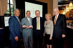 President Qayoumi Presents Award to STEM Tool Developed by Raytheon