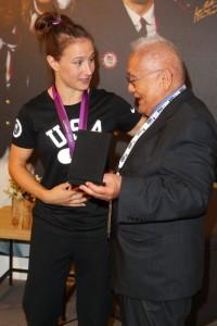 With Judo Legend Yosh Uchida as Her Coach, Fellow Spartan Marti Malloy Wins Bronze at London Olympics