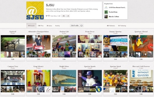 Join SJSU on Pinterest!