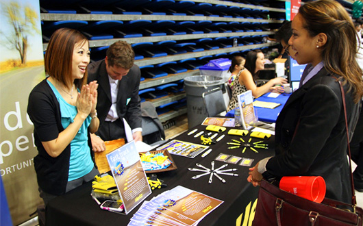 SJSU Career Center's Fall Job/Internship Fair attracted 175 employers and 2,500 students (Jessica Olthof photo)