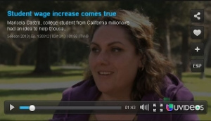 Univision: California Student's Idea Helps Working People's Finances