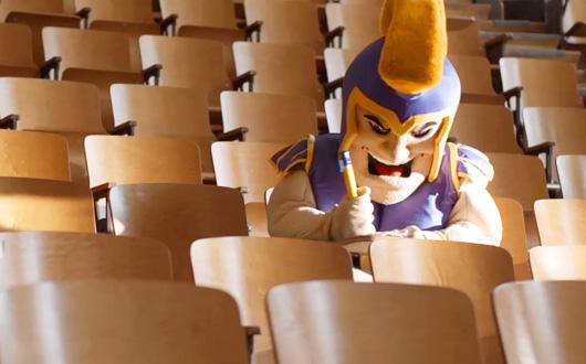 Sammy Spartan in class