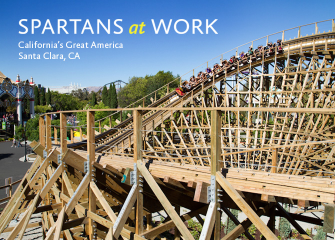 Spartans at work at California's Great America