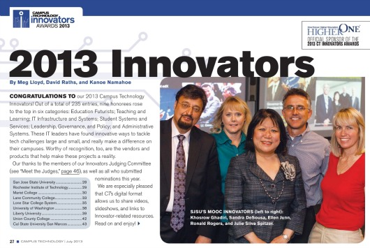 "SJSU Named Top ""Education Futurist"""