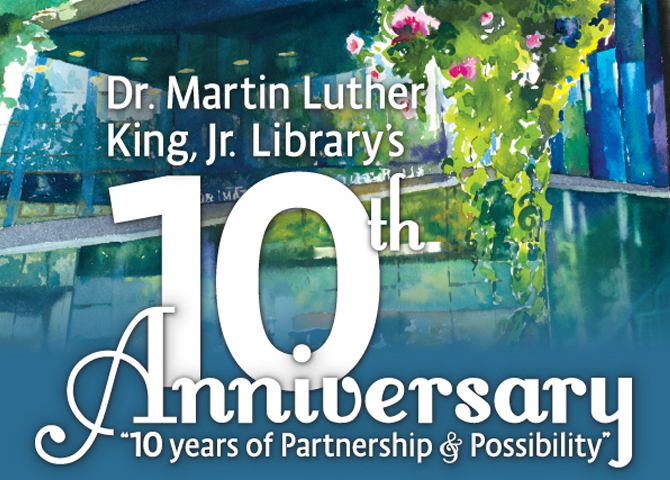 Martin Luther King Jr. Library 10th Anniversary Watercolor