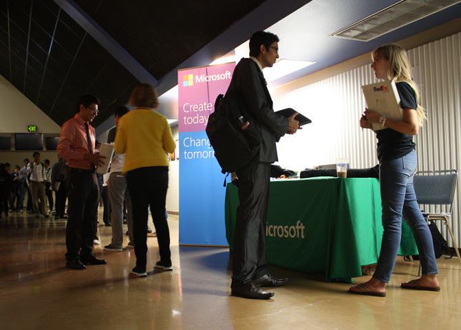 Students interview with Microsoft