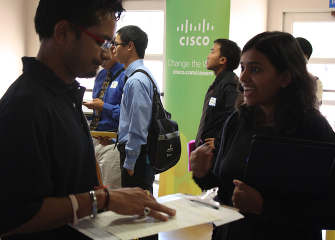 Student interview with Cisco reps