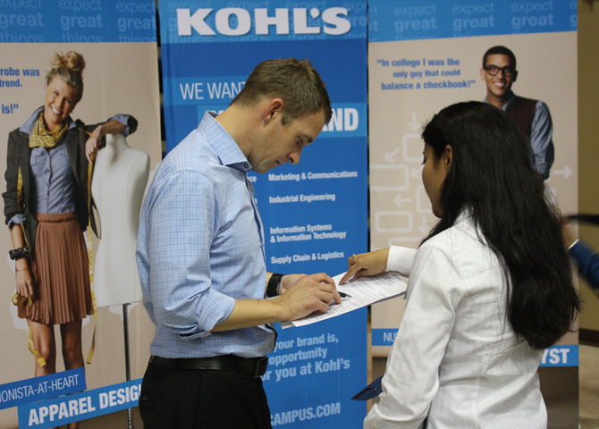 Student interviews with Kohl's