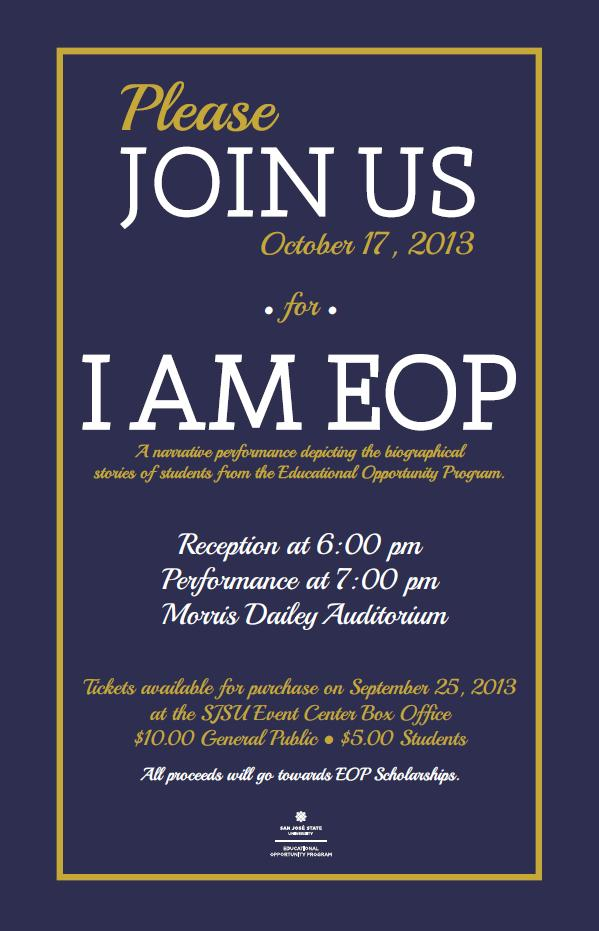 "Resilience and Self Belief: ""I AM EOP"""