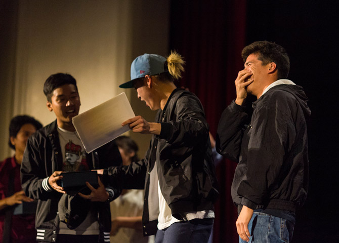 The Winner of Best Dance Crew Accepts Award