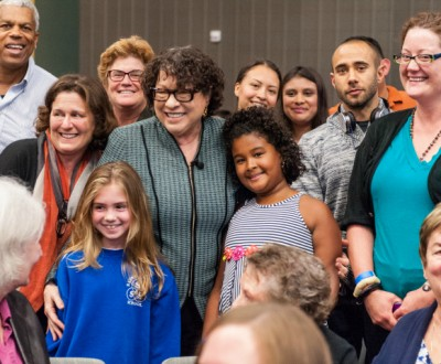 After the program, Justice Sotomayor plunged into the crowd for group photos with all in attendance.