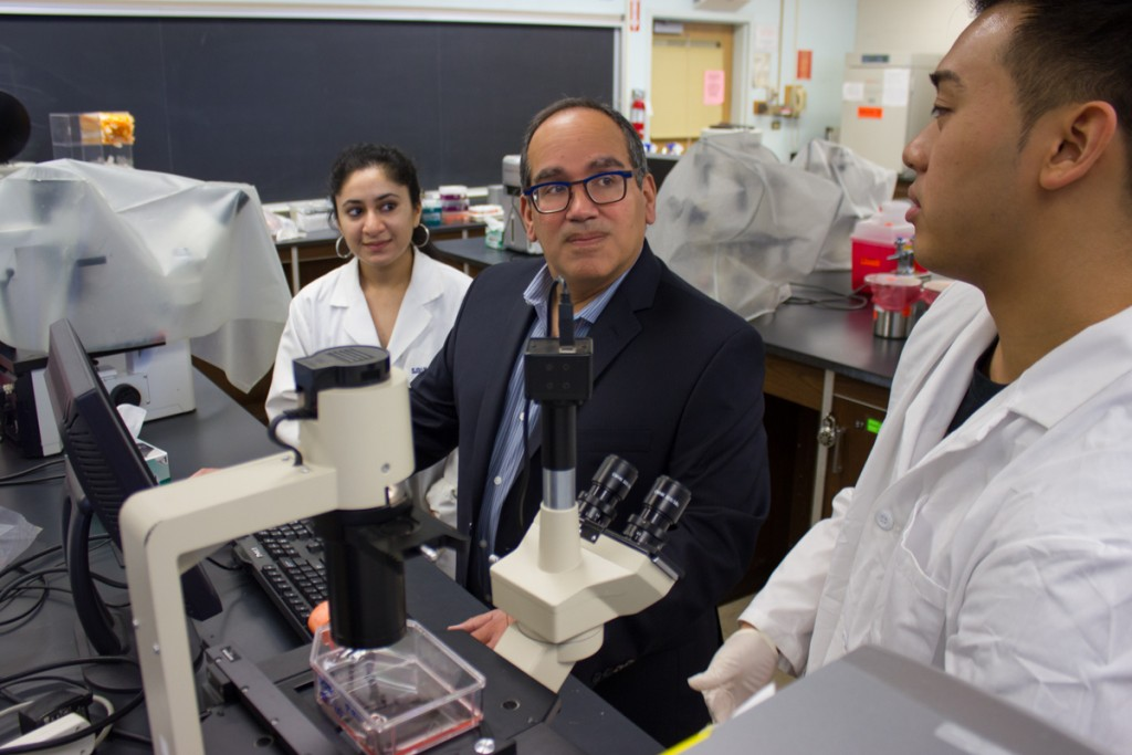 """As a member of an under-represented minority group, I am committed to making the unlimited intellectual possibilities of modern biology accessible to all students,""—Professor Julio Soto."