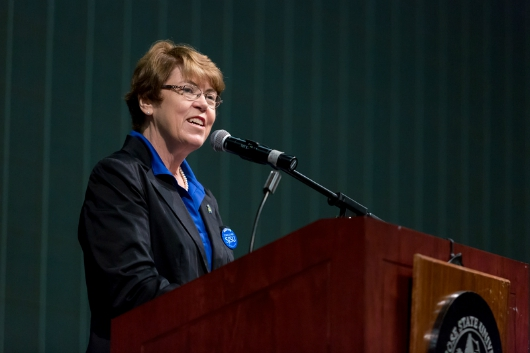 Interim President Susan Martin (photo by David Schmitz)