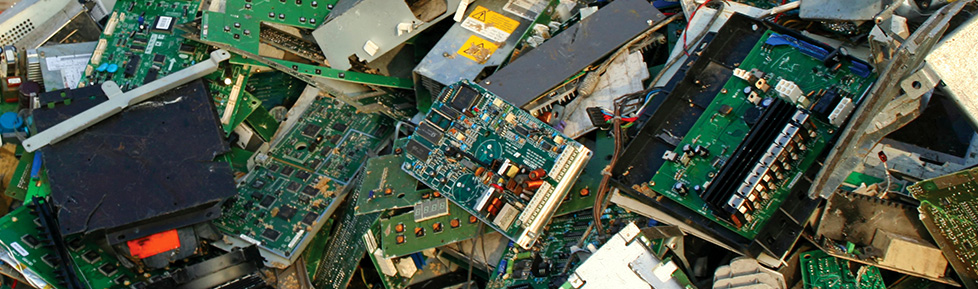 Landfill of e-waste