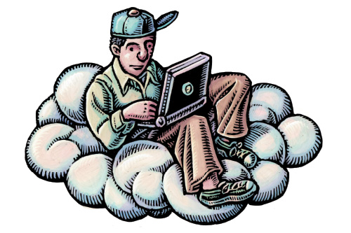 Student on a cloud Illustration by Lisa Haney