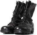 Pair of black, lace-up military boots