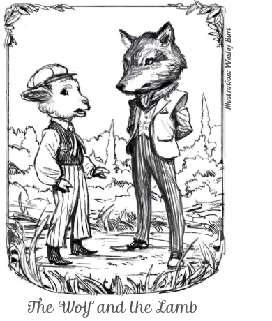The Wolf and The Lamb Illustration