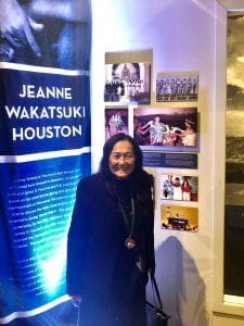 Jeanne Houston at her museum exhibition