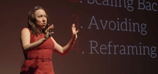 Mary Poffenroth speaking during her Ted Talk.