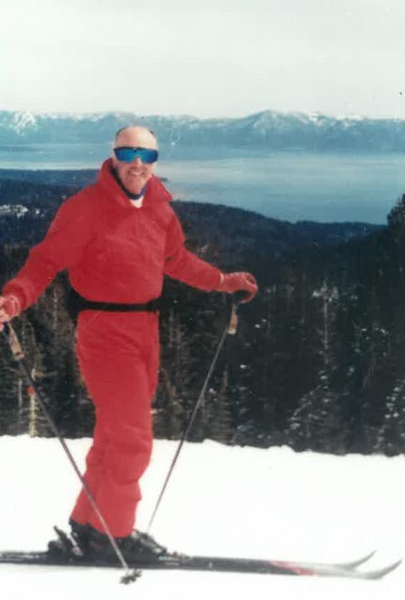 John Aitken skiing.