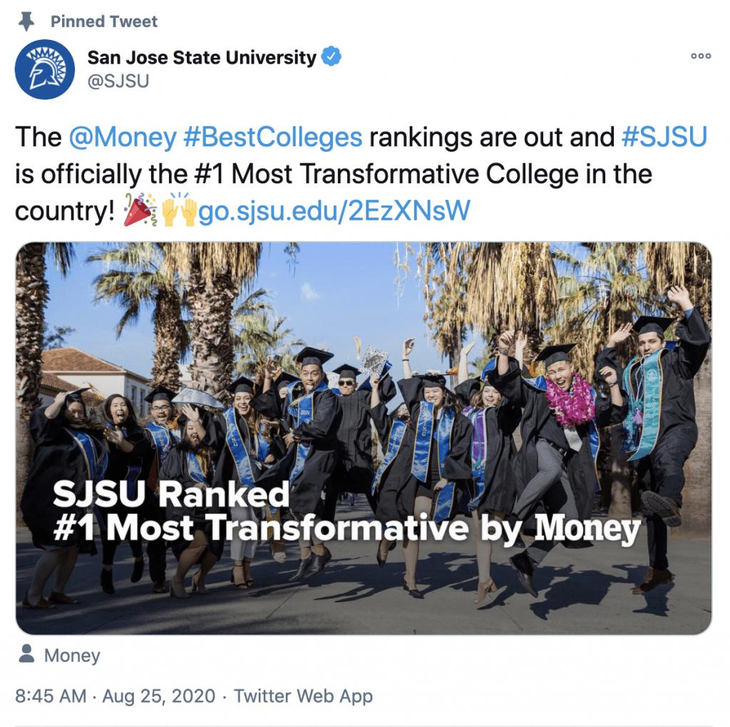 #1 Most Transformative University