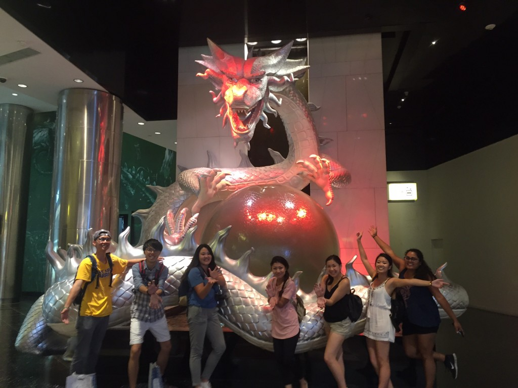 Students who stayed in Macau to experience the Casino hotels