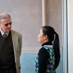 School of Social Work Director Jack Wall speaks with one of the fellows from Vietnam who will be at SJSU for three weeks to learn about social work education.