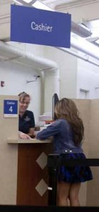 Cashier in Student Services Center