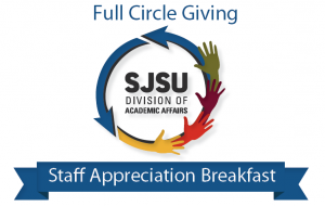 The theme for the 2015 Academic Affairs Staff Appreciation Breakfast is 'Full Circle Giving.'