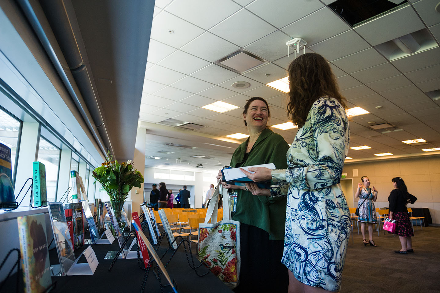 Attendees of the Annual Author Awards look at the 2015 publications.
